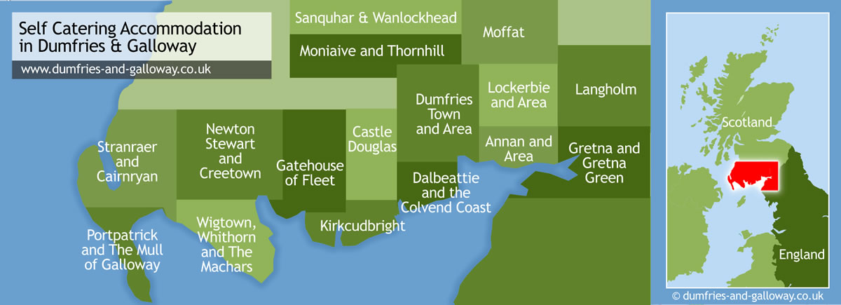 Accommodation in Dumfries and Galloway Scotland